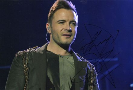 Shane Filan, Westlife, signed 12x8 inch photo.(2)